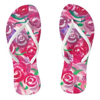 Chanclas Dedos del pie color de rosa