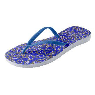 Chanclas El leopardo inspiró flips-flopes del Azul-Oro