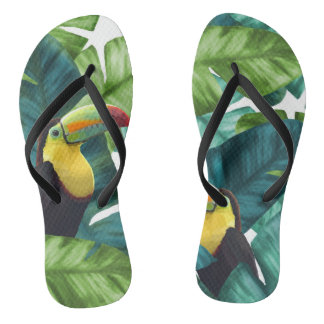 Chanclas El plátano tropical de Toucans sale del modelo