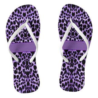 Chanclas Estampado de animales púrpura del leopardo