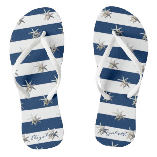 Chanclas Estrellas de mar adorables en Raya-Personalizado