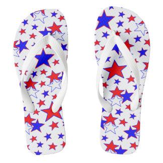 Chanclas Estrellas patrióticas