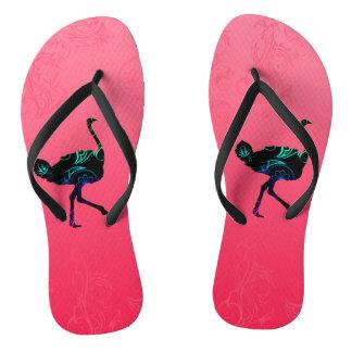 Chanclas Flips-flopes abstractos de la avestruz