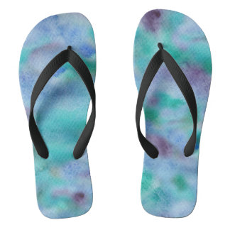 Chanclas Flips-flopes amplios adultos púrpuras verdes de