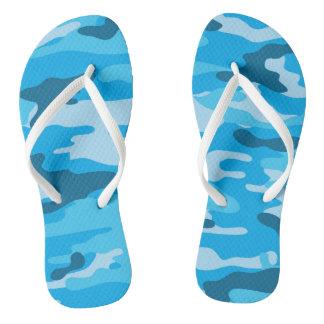 Chanclas Flips-flopes azules de Camo, zapatos del camuflaje