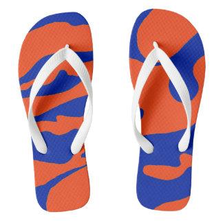 Chanclas Flips-flopes azules y anaranjados de Camo