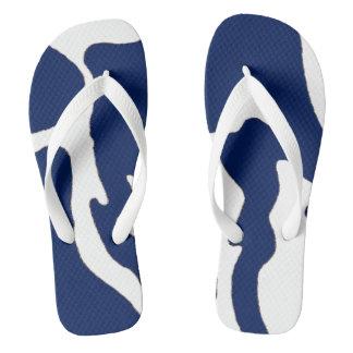 Chanclas Flips-flopes blancos azules de Camo