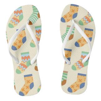 Chanclas Flips-flopes coloridos de los calcetines para el