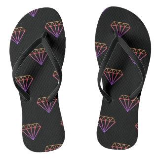 Chanclas Flips-flopes coloridos del modelo del diamante