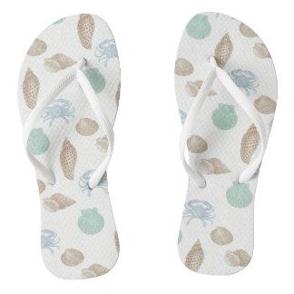 Chanclas Flips-flopes costeros del modelo de los Seashells