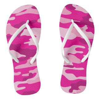 Chanclas Flips-flopes de Camo de las rosas fuertes, zapatos