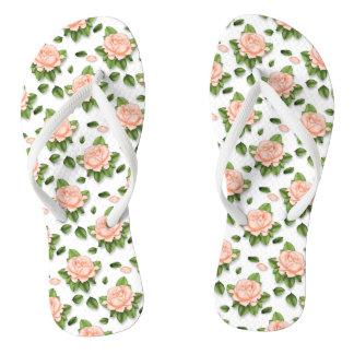 Chanclas Flips-flopes de encargo lindos del flor del