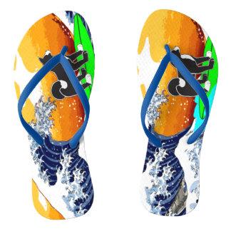 Chanclas Flips-flopes de la persona que practica surf de