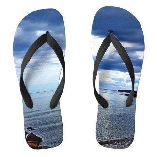 Chanclas Flips-flopes de la playa de Sidmouth