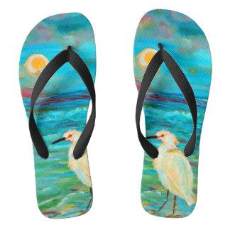 Chanclas Flips-flopes de la playa del océano