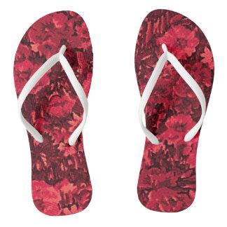 Chanclas Flips-flopes de los rosas rojos
