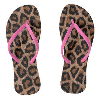 Chanclas Flips-flopes del estampado leopardo