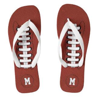 Chanclas Flips-flopes del fútbol americano del monograma