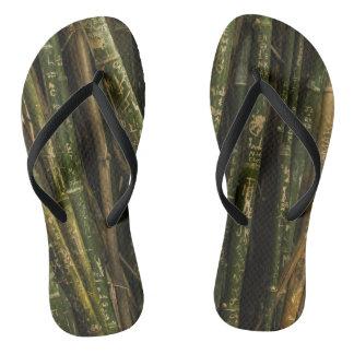 Chanclas Flips-flopes enrrollados de bambú