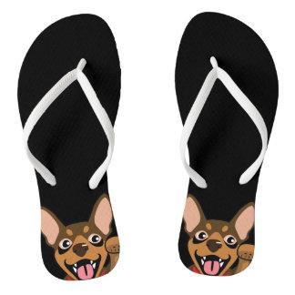 Chanclas Flips-flopes mínimos del perro del Pin de Choco