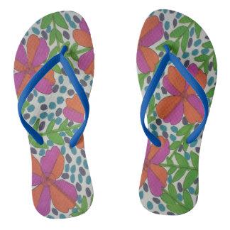 Chanclas Flips-flopes modernos de la impresión floral de la