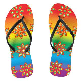Chanclas Flips-flopes multicolores