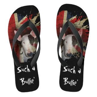Chanclas Flips-flopes negros de bull terrier Union Jack