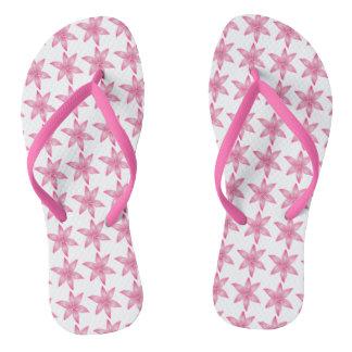 Chanclas Flips-flopes rosados de la flor