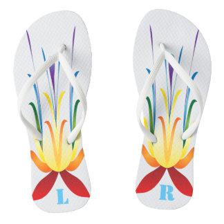 Chanclas Flips-flopes salvajes cones monograma del diseño