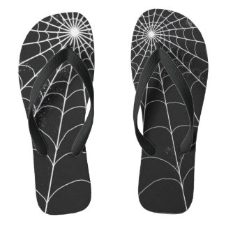 Chanclas Flips-flopes - Spiderweb en negro
