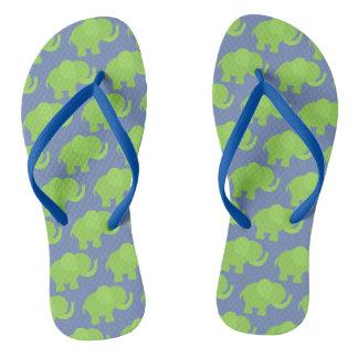 Chanclas Flips-flopes verdes del elefante