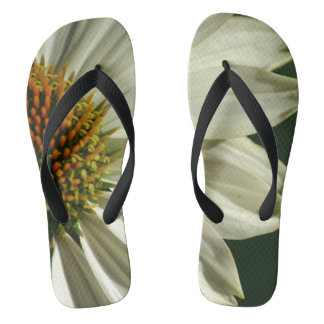 Chanclas Fotografía de la flor en flips-flopes