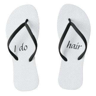 Chanclas Hago flips-flopes del pelo
