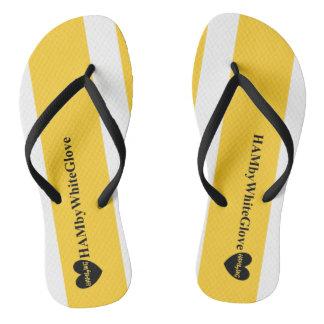 Chanclas HAMbWG - balanceo - negro blanco amarillo