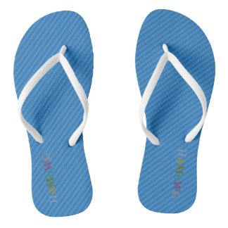 Chanclas HAMbyWG - balanceos - logotipo multi azul de w