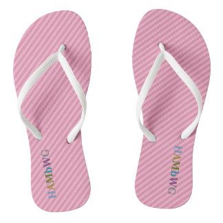 Chanclas HAMbyWG - balanceos - logotipo multi rosa claro de