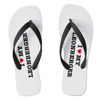 Chanclas I corazón mis flips-flopes de Leonberger