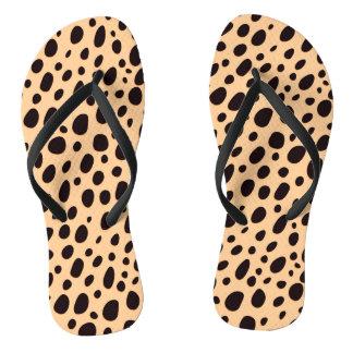 Chanclas Leopardo beige negro y oscuro