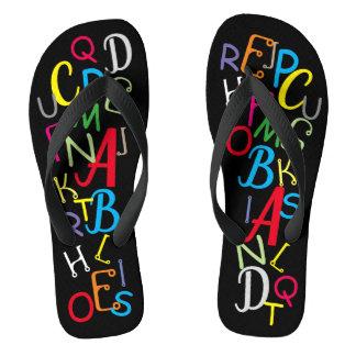 Chanclas Letras coloridas del alfabeto de la diversión en