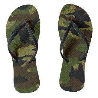 Chanclas Los militares verdes de Camo camuflan flips-flopes