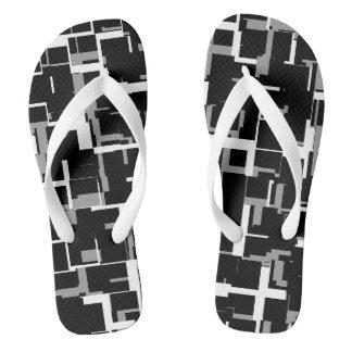 Chanclas Modelo gris blanco negro de Digitaces Camo