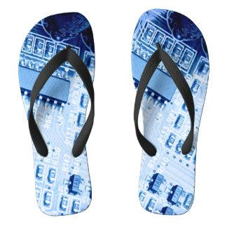 Chanclas Modelo moderno azul de la placa madre