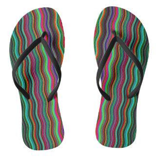 Chanclas Modelo ondulado colorido fresco de la raya