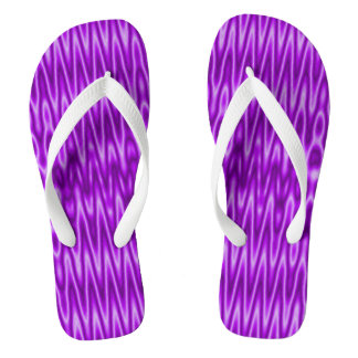 Chanclas Modelo púrpura brillante de la MOD del blanco