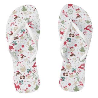 Chanclas Navidad elegante de Ditsy y flips-flopes del Año