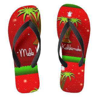 Chanclas Palmera de Mele Kalikimaka para Navidad