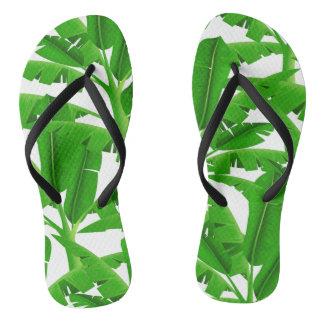 Chanclas Palmeras tropicales verdes