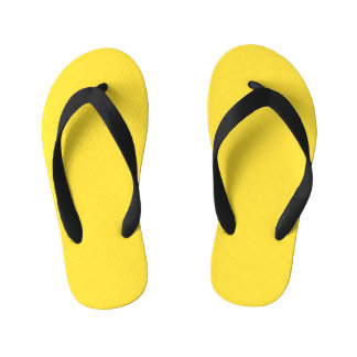 Chanclas Para Niños Amarillo del plátano