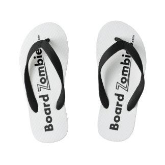 Chanclas Para Niños Desgaste blanco del pie del negro del flip-flop de