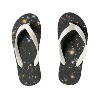 Chanclas Para Niños Estrellas y galaxias del espacio profundo